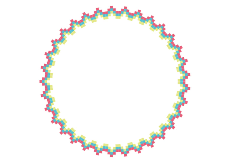エキゾチック 円 フレーム カラフル イラスト 無料