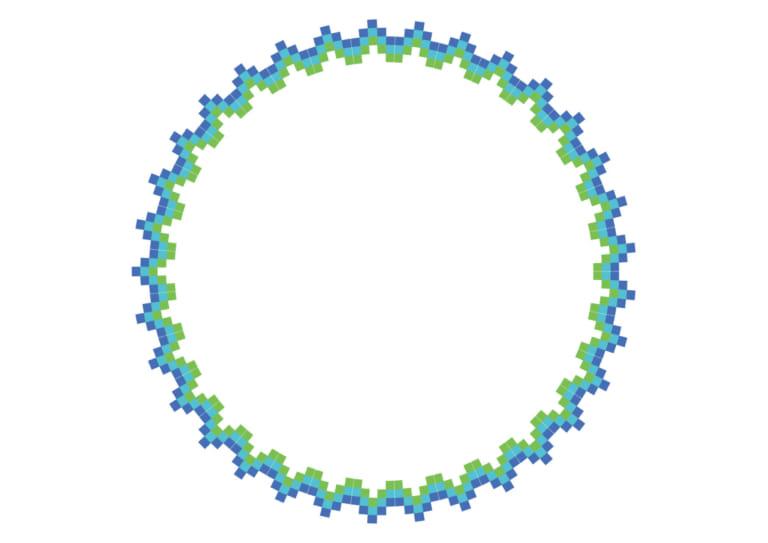 エキゾチック 円 フレーム 青色 イラスト 無料