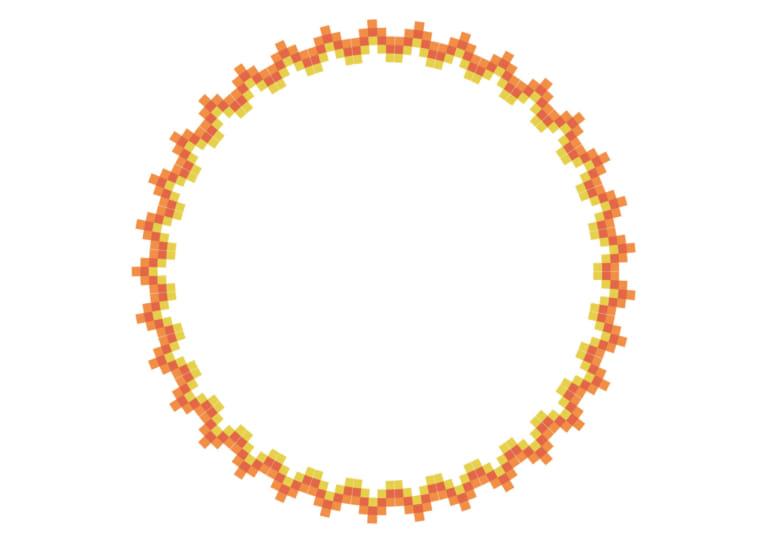 エキゾチック 円 フレーム オレンジ色 イラスト 無料