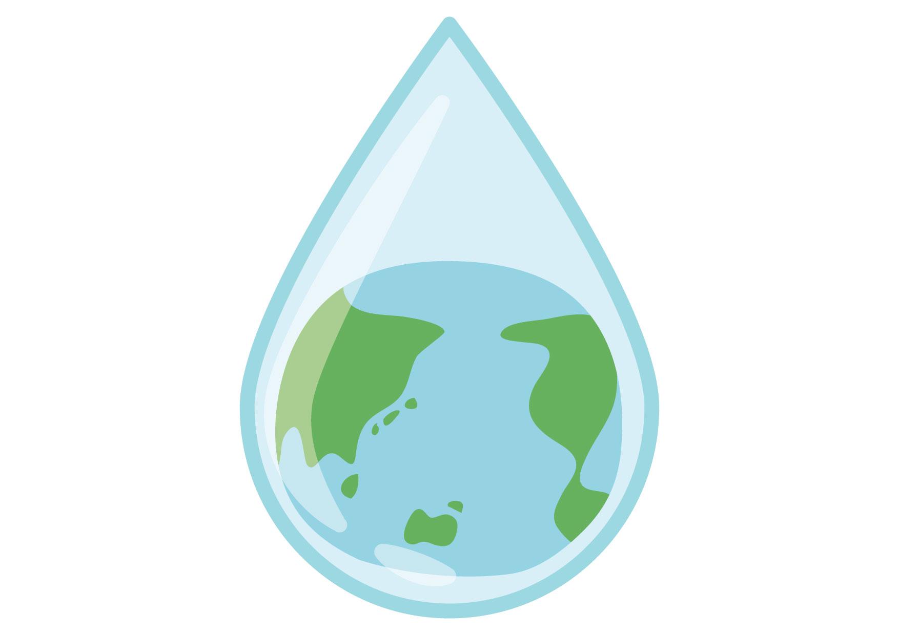 可愛いイラスト無料|地球 雫 人権 環境 − free illustration Earth drop human rights environment