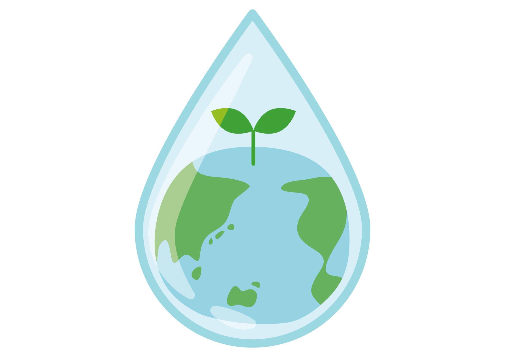 可愛いイラスト無料|地球 雫 新芽 人権 環境 − free illustration Earth drop human rights environment