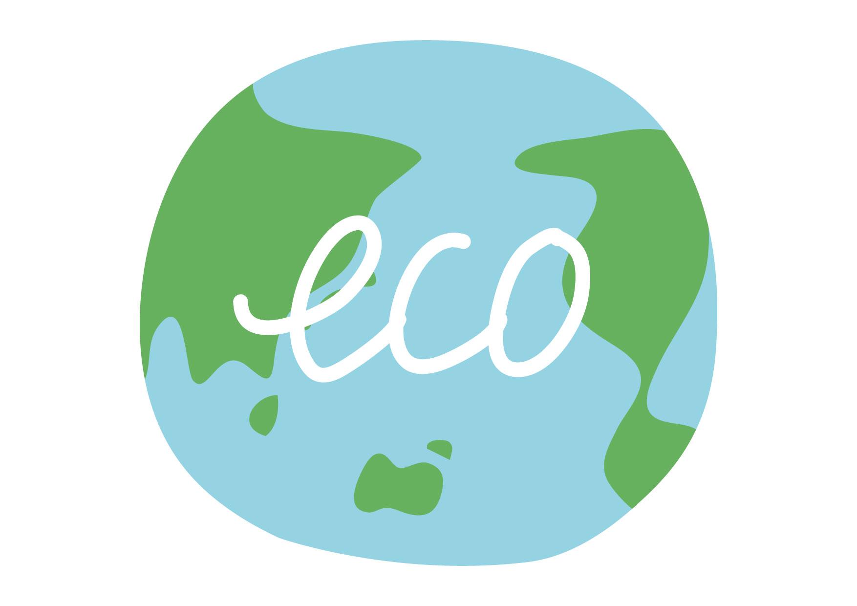 可愛いイラスト無料|地球 環境 文字 − free illustration Earth environment