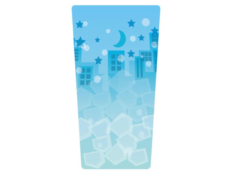 グラス 町並み 青色 イラスト 無料 無料イラストのイラスト