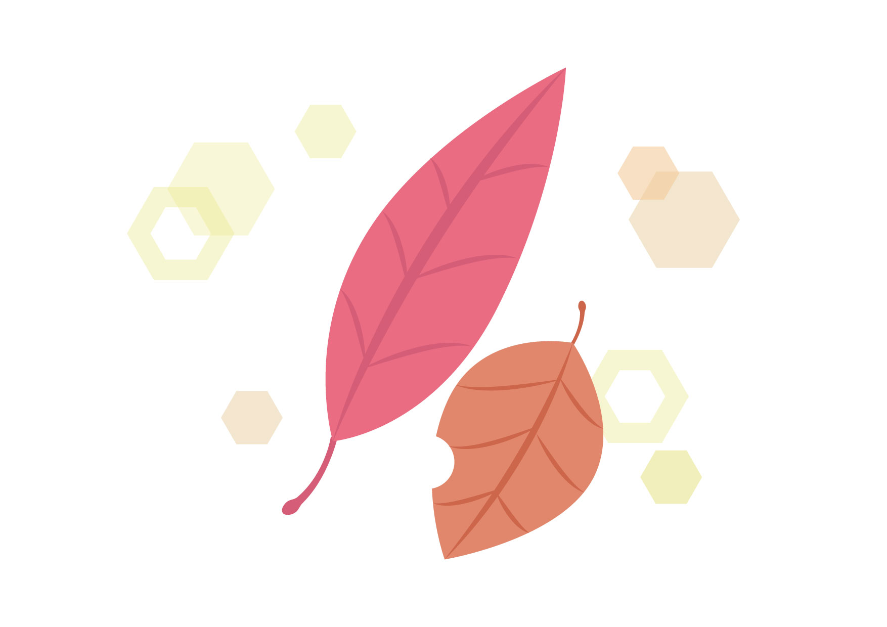 可愛いイラスト無料|落ち葉 ピンク キラキラ − free illustration Fallen leaves pink glitter