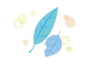 青色 落ち葉 キラキラ イラスト 無料
