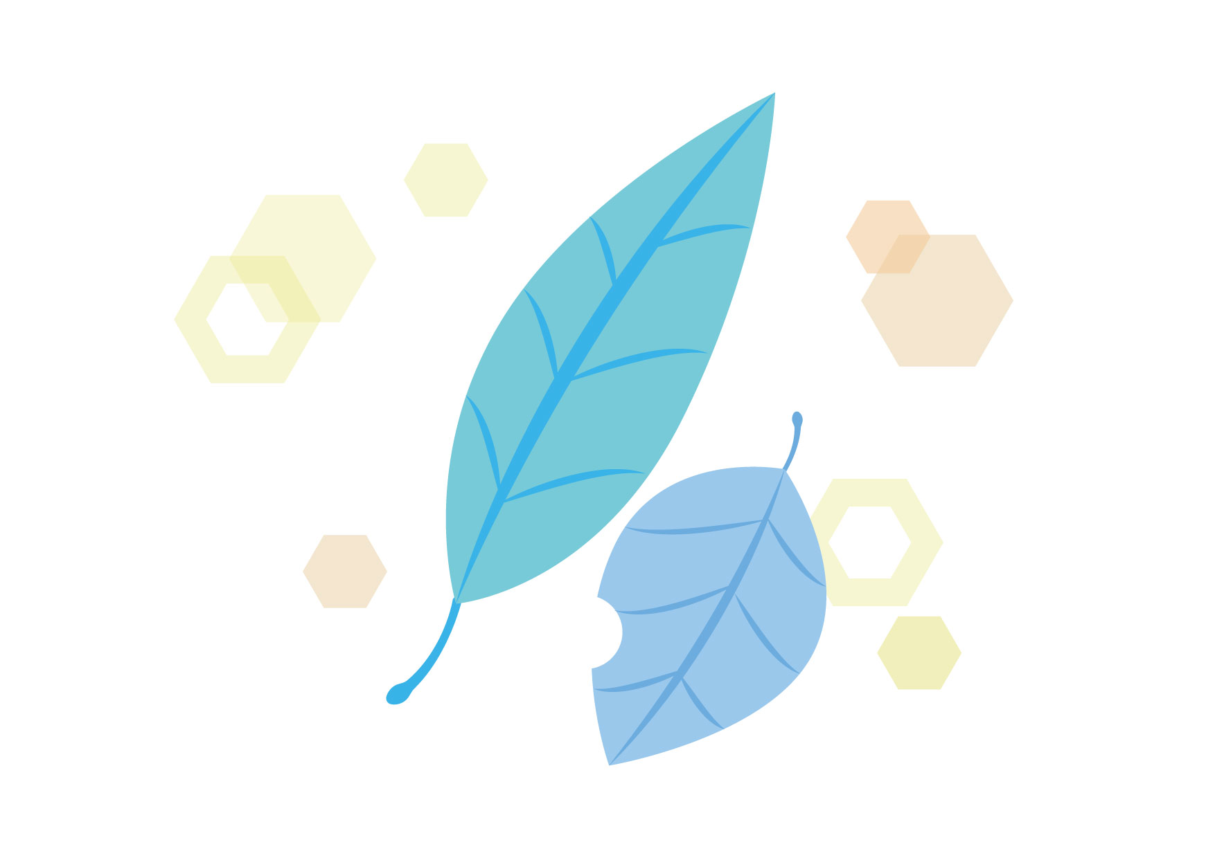 可愛いイラスト無料|落ち葉 青色 キラキラ − free illustration Fallen leaves blue glitter