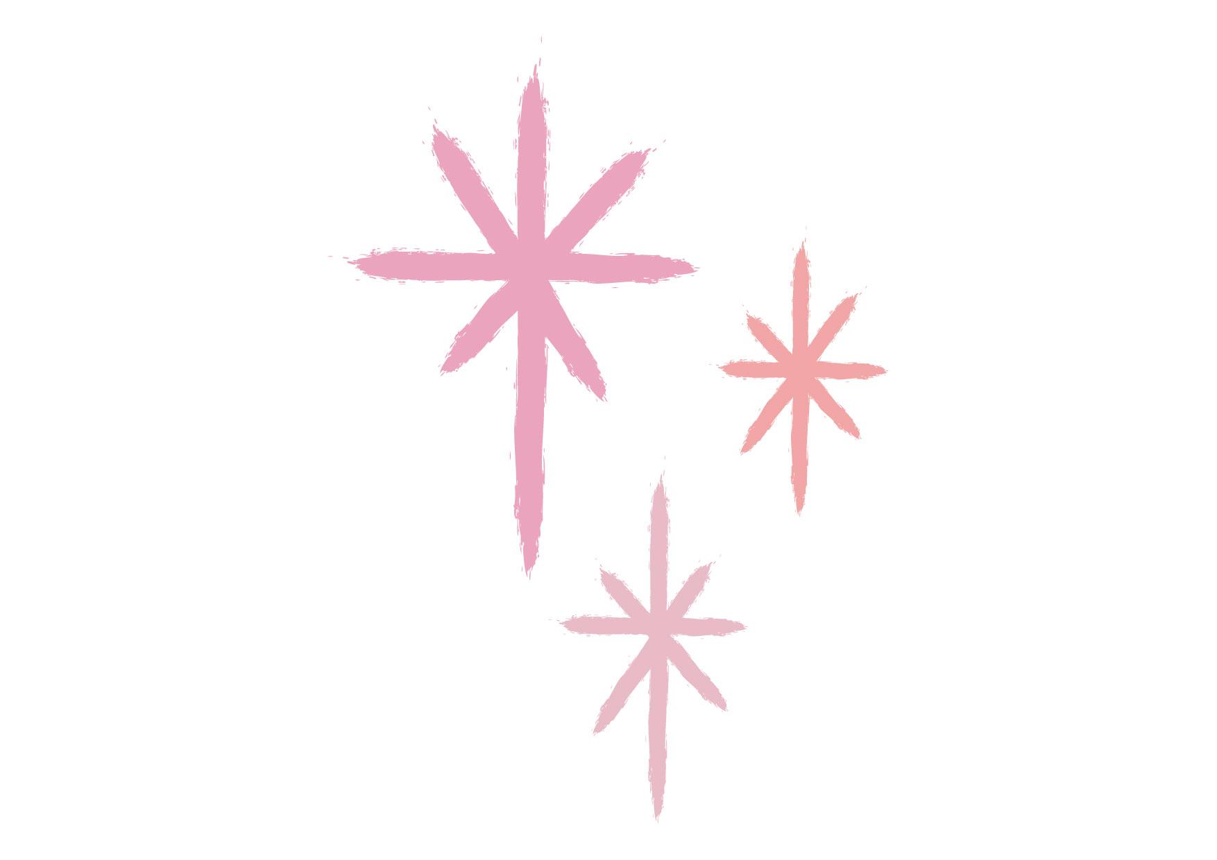 可愛いイラスト無料|キラキラ 光 ピンク − free illustration Glitter light pink