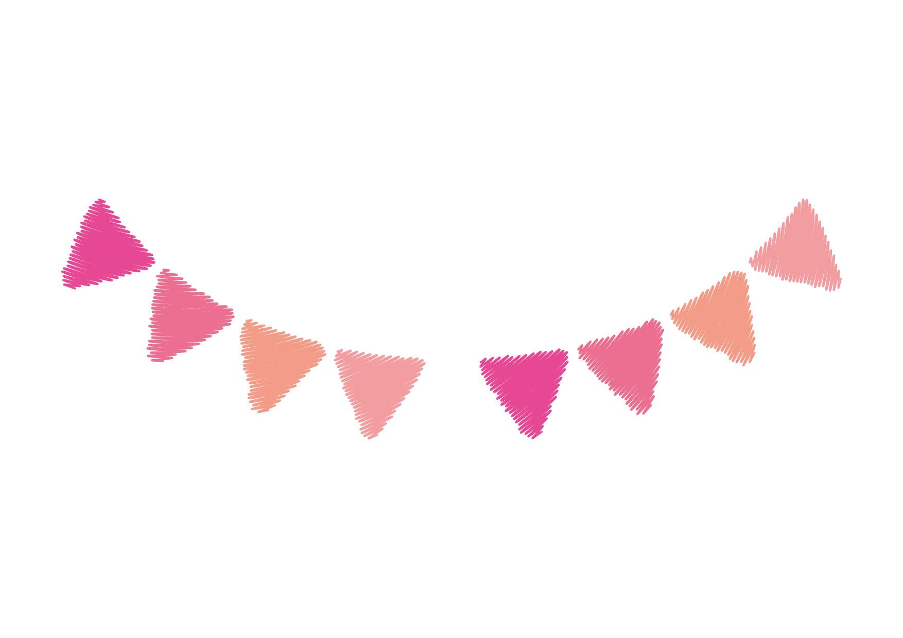 可愛いイラスト無料|フラッグ ピンク 手書き − free illustration Flag pink graffiti