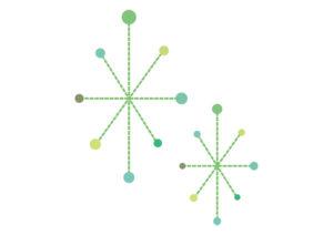 毛糸 点線 キラキラ 光 緑色 イラスト 無料