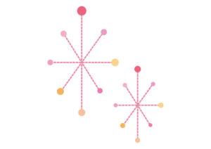 毛糸 点線 キラキラ 光 ピンク イラスト 無料