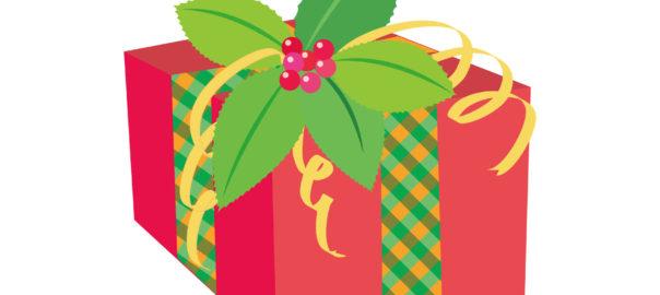 クリスマスプレゼント 赤色 ポインセチア イラスト 無料