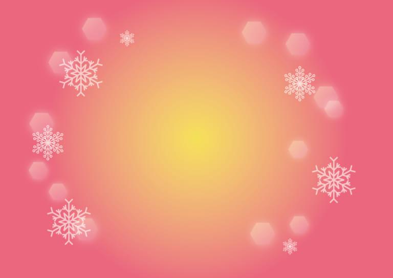 雪の結晶 背景 ピンク イラスト 無料