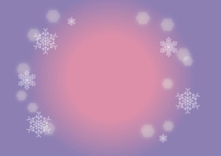 雪の結晶 背景 紫色 イラスト 無料