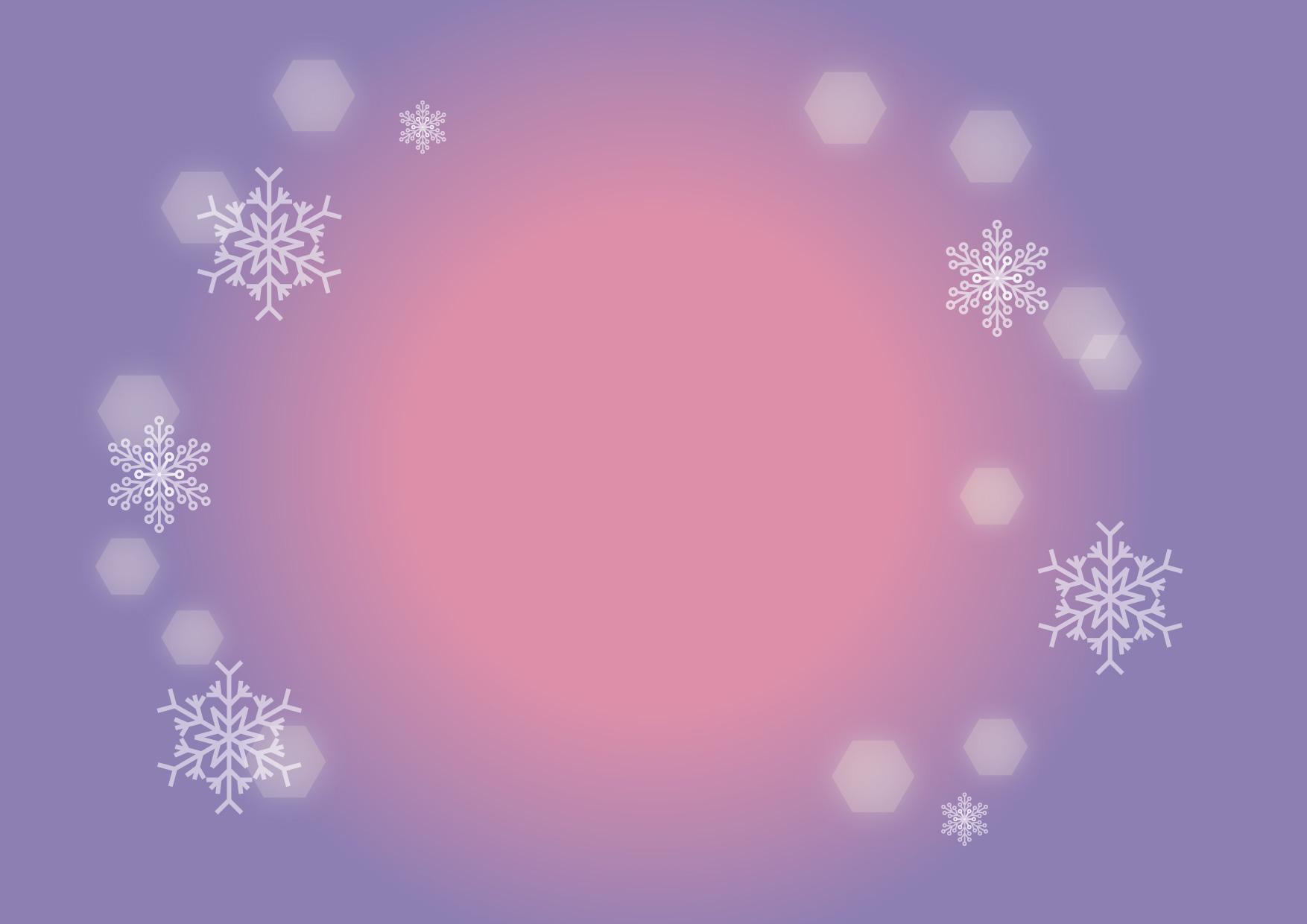 可愛いイラスト無料|雪の結晶 背景 紫色 − free illustration Snowflakes background purple