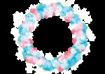 雪の結晶 背景 フレーム 水色 イラスト 無料