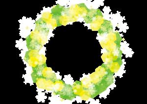 雪の結晶 背景 フレーム 緑 イラスト 無料