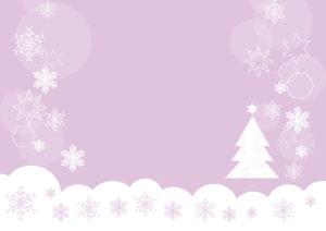 雪の結晶 クリスマスツリー 紫色 背景 イラスト 無料