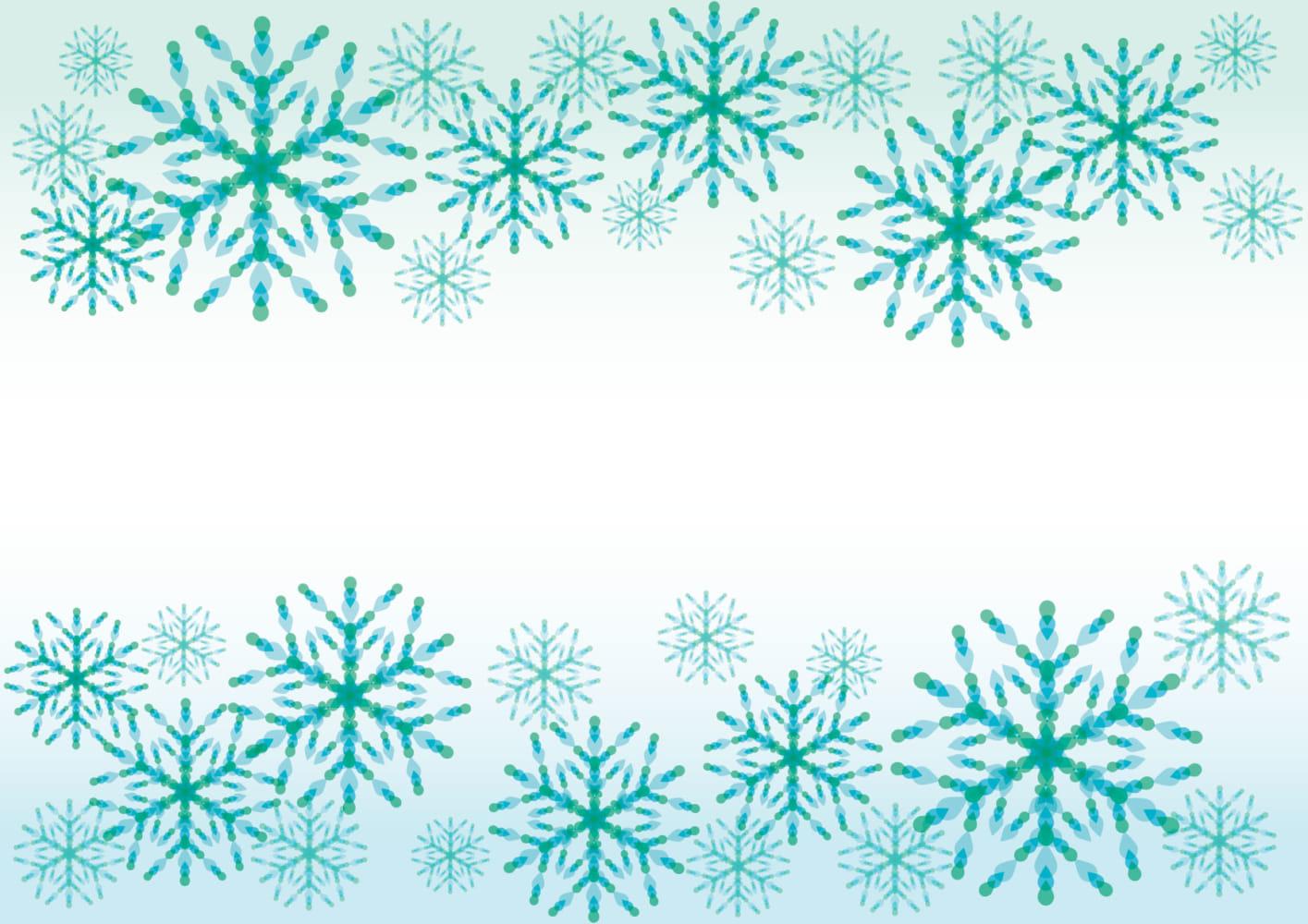 雪の結晶 青 背景 イラスト 無料