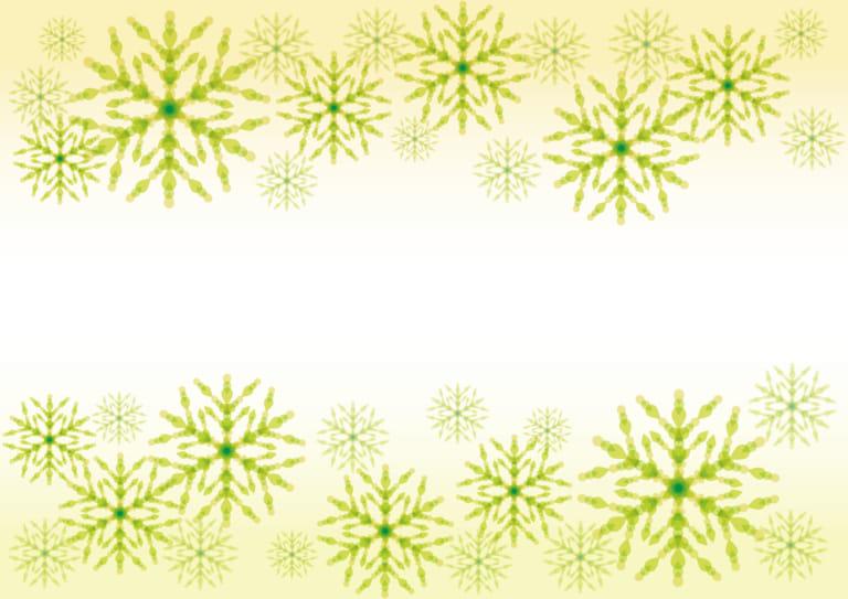 雪の結晶 黄色 背景 イラスト 無料