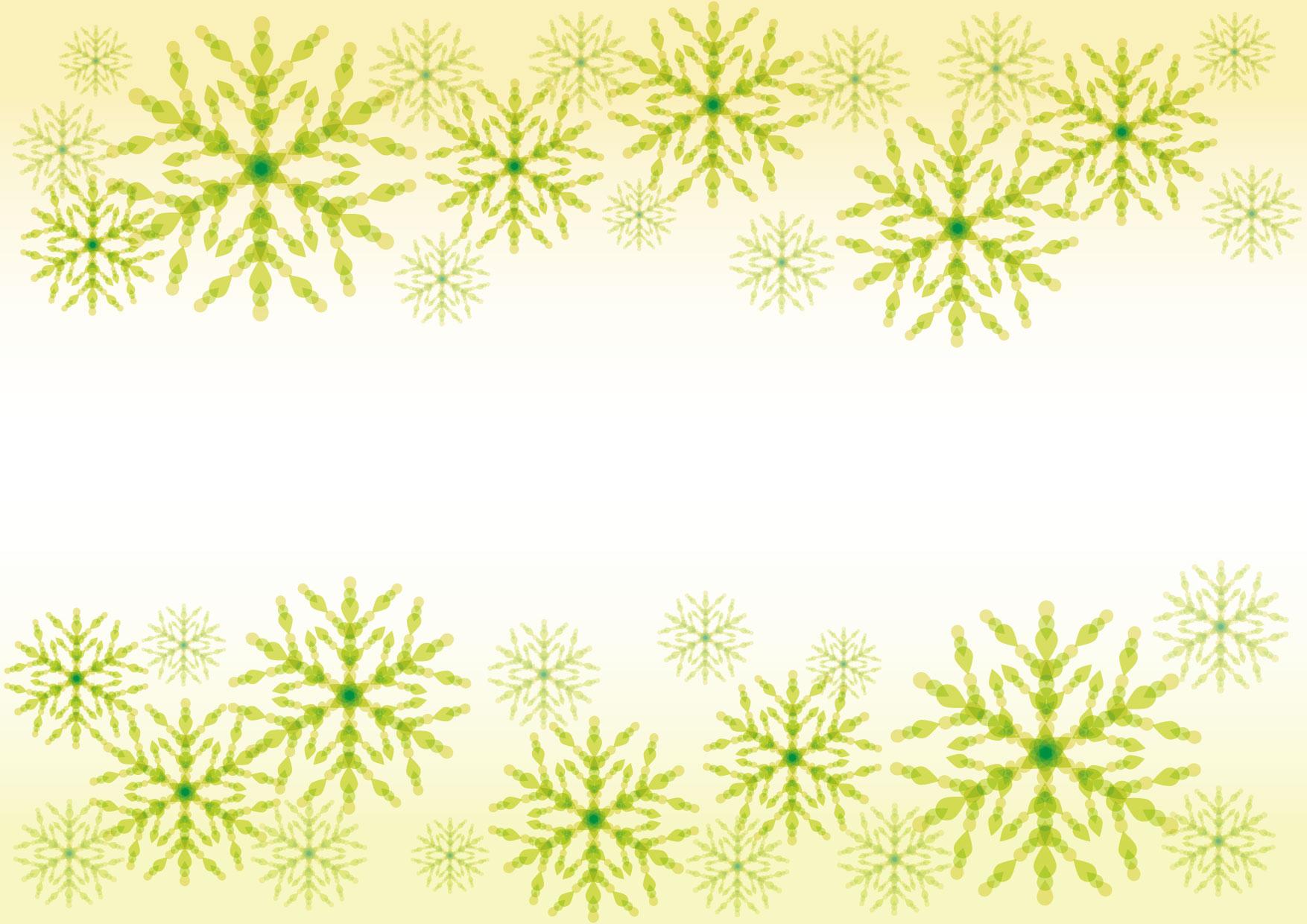 可愛いイラスト無料|雪の結晶 黄色 背景 − free illustration Snowflakes yellow background