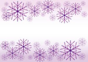 雪の結晶 紫色 背景 イラスト 無料