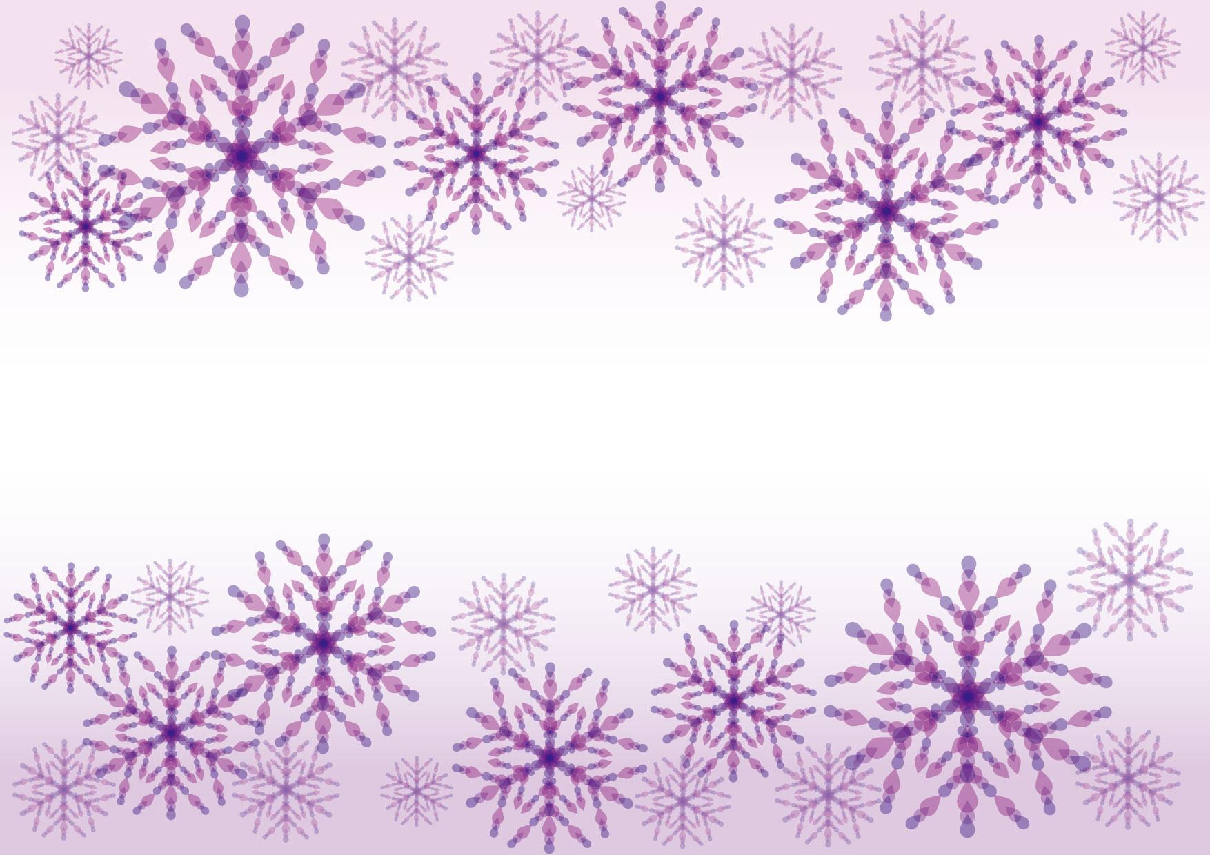 可愛いイラスト無料|雪の結晶 紫色 背景 − free illustration Snowflakes purple background