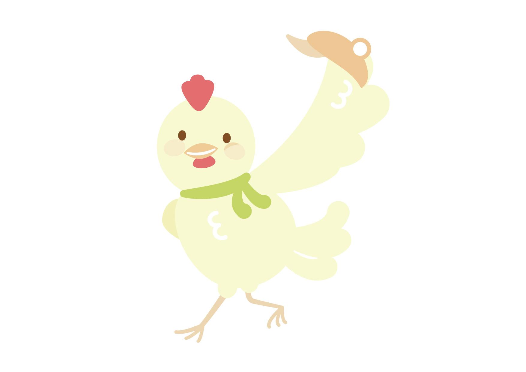 お正月 鶏 お父さん イラスト 無料
