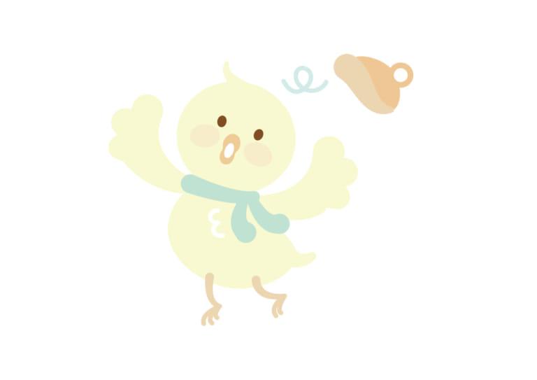 お正月 鶏 ひよこ 子供2 イラスト 無料 無料イラストのイラスト