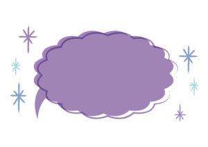 吹き出し 紫色 背景 イラスト 無料