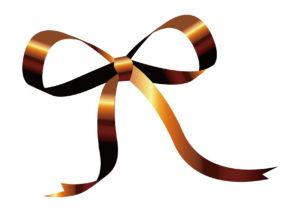 リボン 光沢 チョコレート色 イラスト 無料
