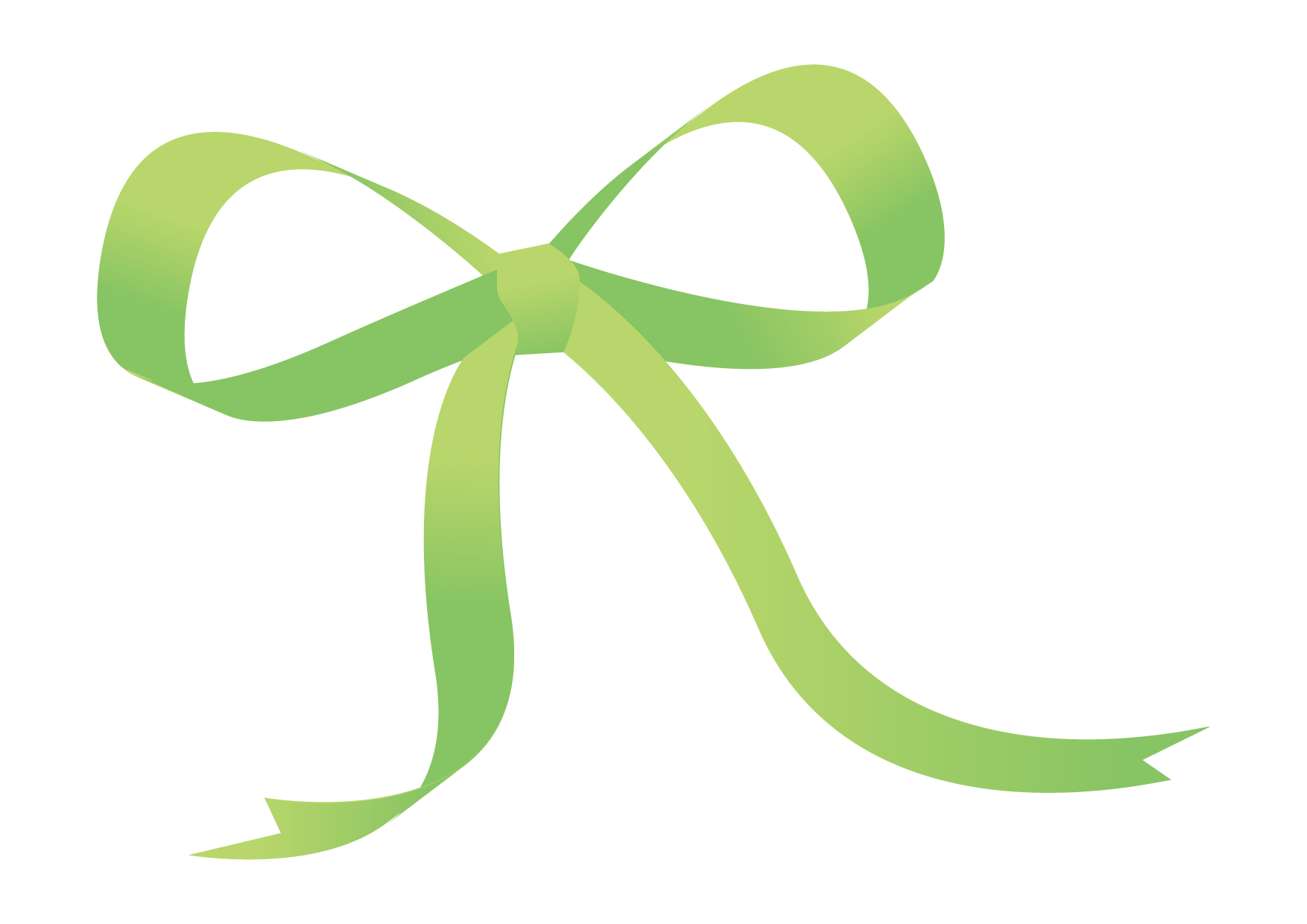 可愛いイラスト無料|リボン 緑色 − free illustration Ribbon green