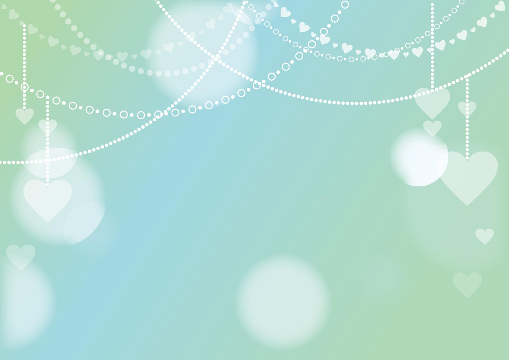 バレンタイン 背景 チェーン 緑色 イラスト 無料